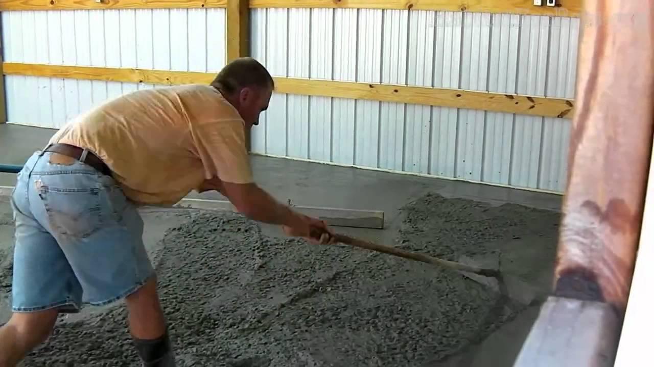 طریقه کف سازی و شیب بندی با پوکه معدنی