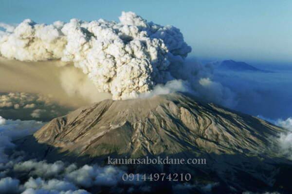ذرات آذرآواری در آتشفشان