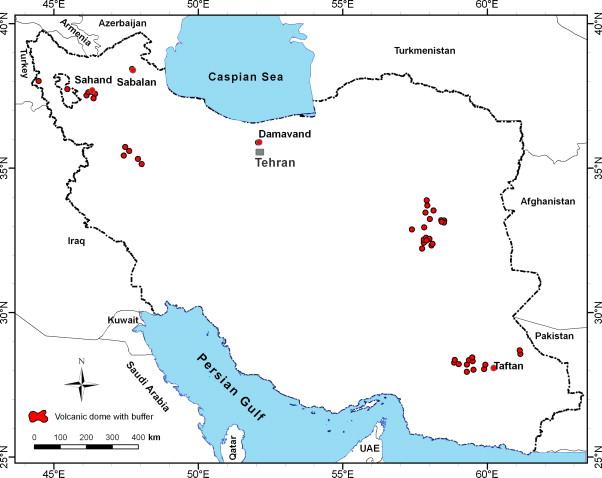 نقشه پوکه معدنی در ایران